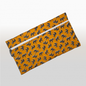 Pencil Bag (African Print Orange Zebra)
