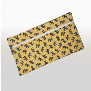 Pencil Bag (African Print Yellow Zebra)