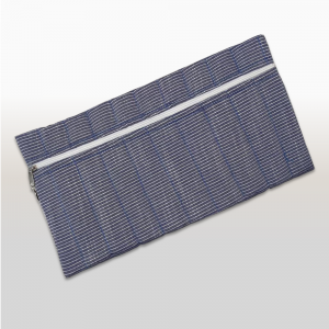 Pencil Bag (Light Denim & White Stripe)