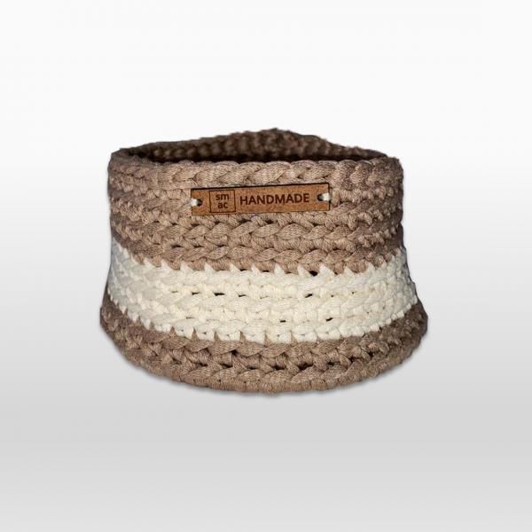 Crochet Baskets Small Beige & Cream