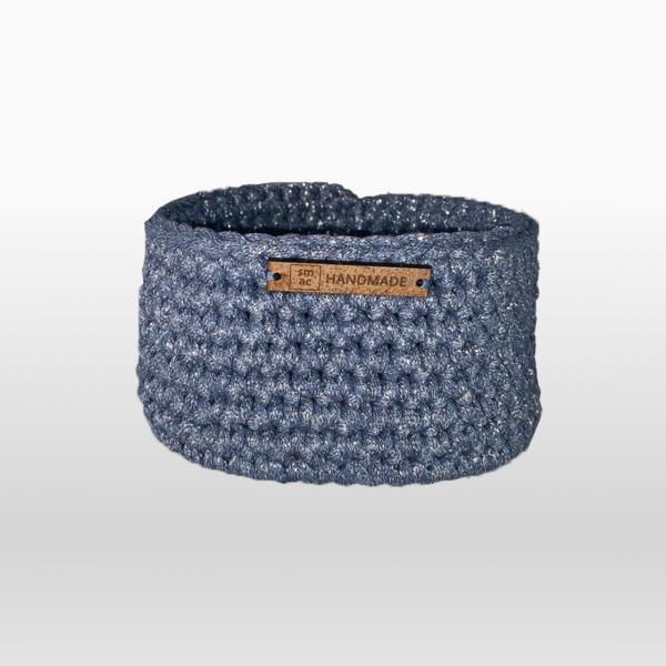 Crochet Baskets Small Blue