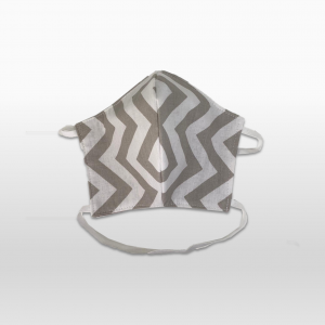 Beige Zig Zag 100% Cotton Face Masks (Medium or Large)