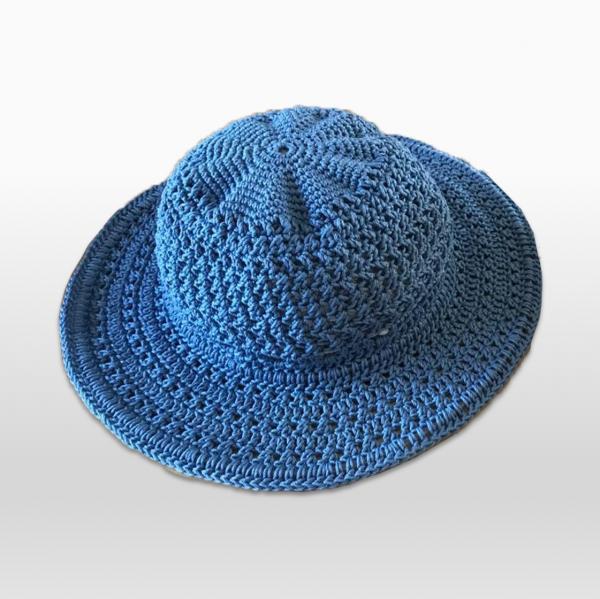 Crochet Hat Blue