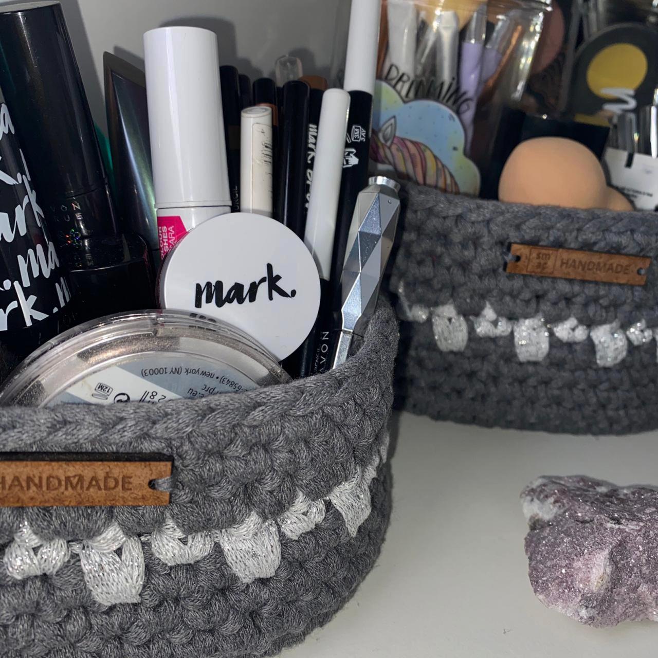 Crochet Baskets for makeup