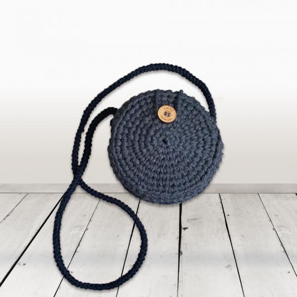 crochet bag anthracite