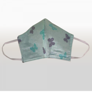 Mint with Grey Butterfly Face Masks (Medium)
