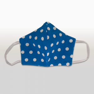 Aqua with White Polka Dot Face Masks (Medium)