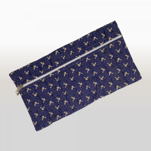 Pencil Bag (Blue & Beige Doves)