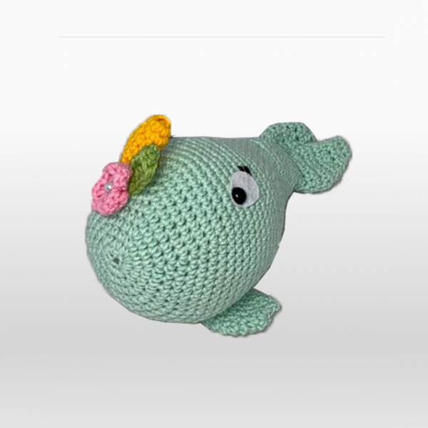 Wally The Whale Mint Green