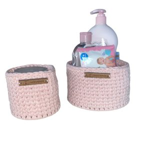 Crochet Baskets Set – Small